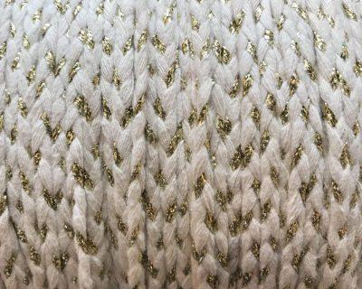 Tresse coton Blanc et Or